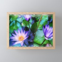 Purple Lotus Framed Mini Art Print