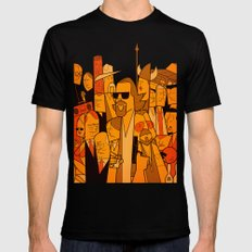 The Big Lebowski LARGE Black Mens Fitted Tee