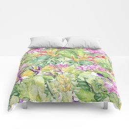 Tropical Garden 1A #society6 Comforters