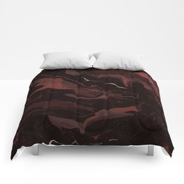 Abstract Astronomy in Crimson Red Comforters