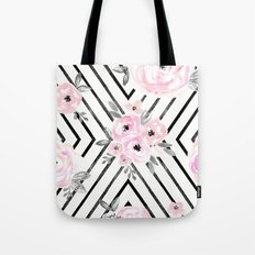 Blush Roses Mod Tote Bag