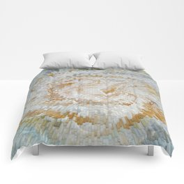 Abstract gold roses Comforters