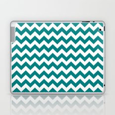 Chevron (Teal/White) Laptop & iPad Skin