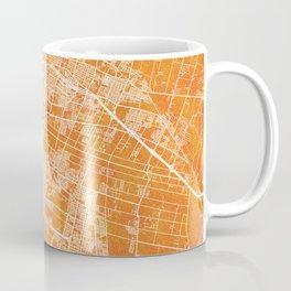 Mendoza, Argentina, Gold, Blue, City, Map Coffee Mug