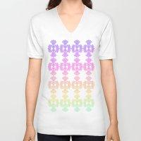 casablanca V-neck T-shirts featuring Sorbet in Casablanca by ZaWe