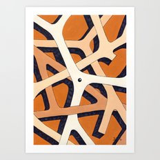 Mono Pattern | The Branches Art Print