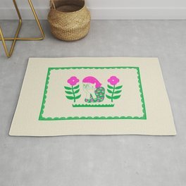 Don't be shy, shy girl, shy, print Rug