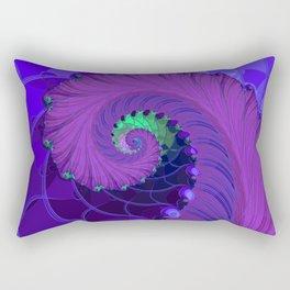 Unfurling Fractal Rectangular Pillow