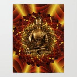 Medizinbuddha und 1000 blättriger Lotus Poster