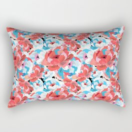 Beautiful vector illustration pattern of colorful flowers Rectangular Pillow