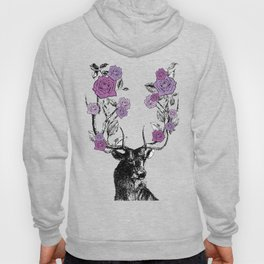 The Stag and Roses | Lilac | Purple Hoody