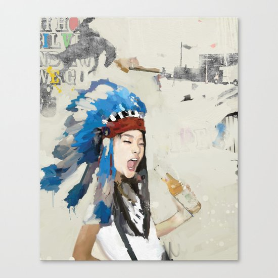 Yippee! Canvas Print