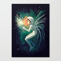 contact Canvas Prints featuring Contact by Freeminds