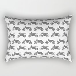 Grey Dirt Bikes Rectangular Pillow