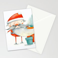 Santa and friend Stationery Cards
