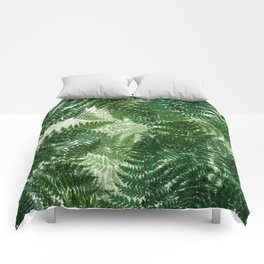 green big jungle leaves Comforters