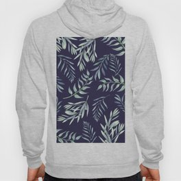 Floating Leaves Blue 2 #society6 #buyart Hoody