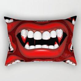 Vampire Bloody Fangs Rectangular Pillow