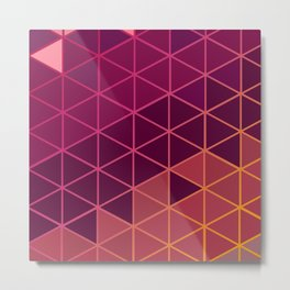 Hexagon Colors - Rose Metal Print
