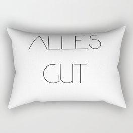 Alles gut Rectangular Pillow