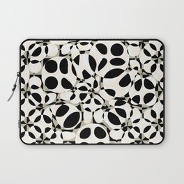 black and white circles in squares Laptop Sleeve