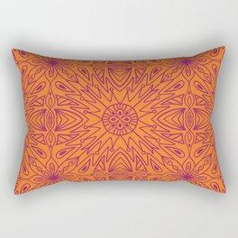 Symmetry Orange Rectangular Pillow