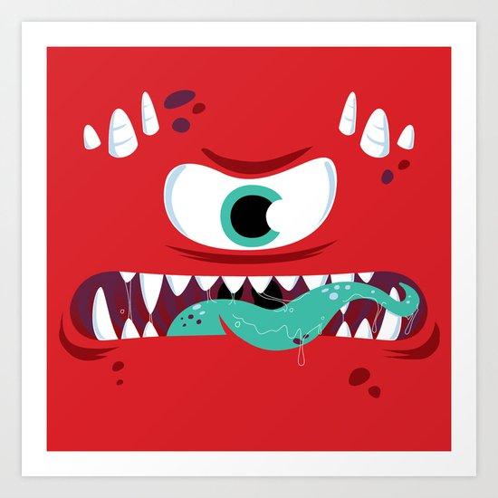 Baddest Red Monster! Art Print