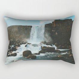 Öxarárfoss Rectangular Pillow