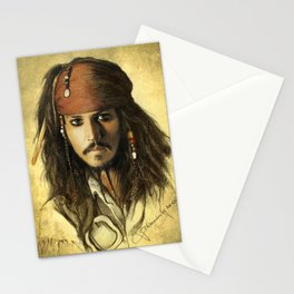 Portrait of a pirate Stationery Cards