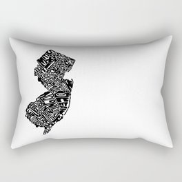 Typographic New Jersey Rectangular Pillow