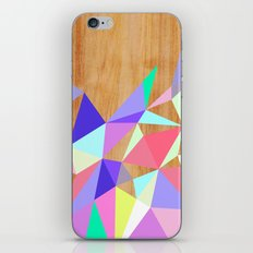 Wooden Geo Pastel iPhone & iPod Skin