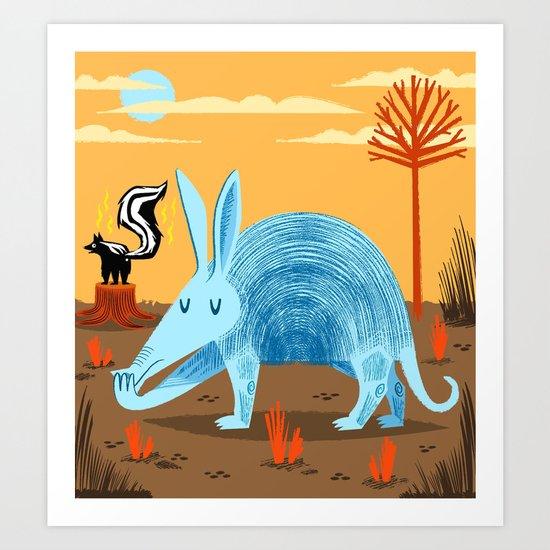 The Aardvark and The Skunk Art Print