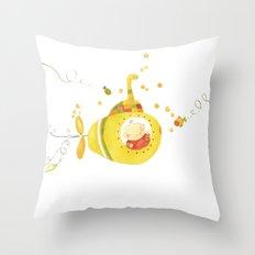Baby's yellow submarine Throw Pillow
