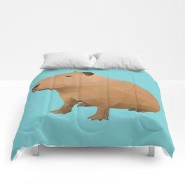 Capybara Polygon Art Comforters