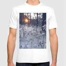 sunset of this winter Mens Fitted Tee MEDIUM White
