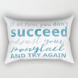 Adjust Your Ponytail Rectangular Pillow