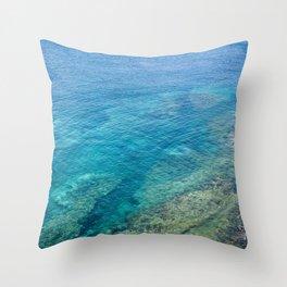 Lanzarote clear sea Throw Pillow