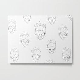 Gon Pattern Metal Print