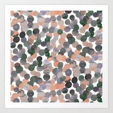 Gracie Spot Peach Grey Art Print