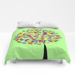 Tree of colors Comforters