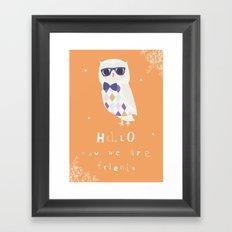 Owl Friend Framed Art Print