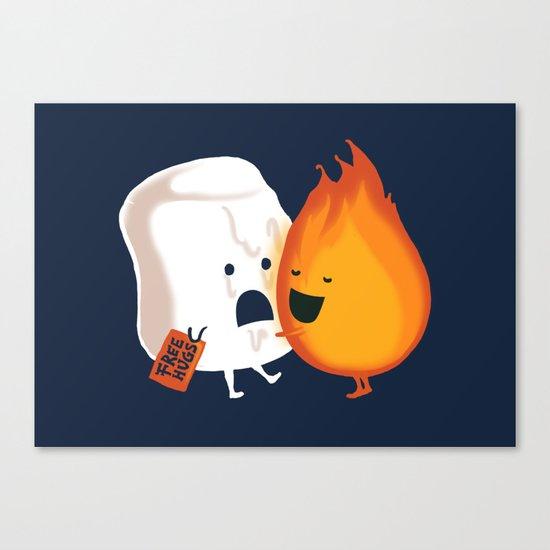 Friendly Fire Canvas Print