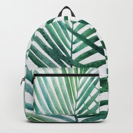 Emerald Palm Fronds Watercolor Backpack