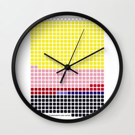 Girl with Hair Ribbon (Roy Lichtenstein) color-sorted Wall Clock