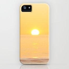Peachy sunrise seascape iPhone Case