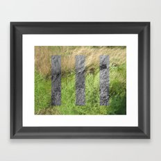 green space. Framed Art Print