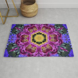 Floral finery - vivid kaleidoscope 20170321_135334 e k1 Rug
