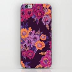 Floral in purple tones iPhone & iPod Skin