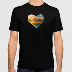 Vector Love 03 MEDIUM Black Mens Fitted Tee