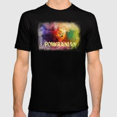 Pomeranian Love Black MEDIUM Mens Fitted Tee